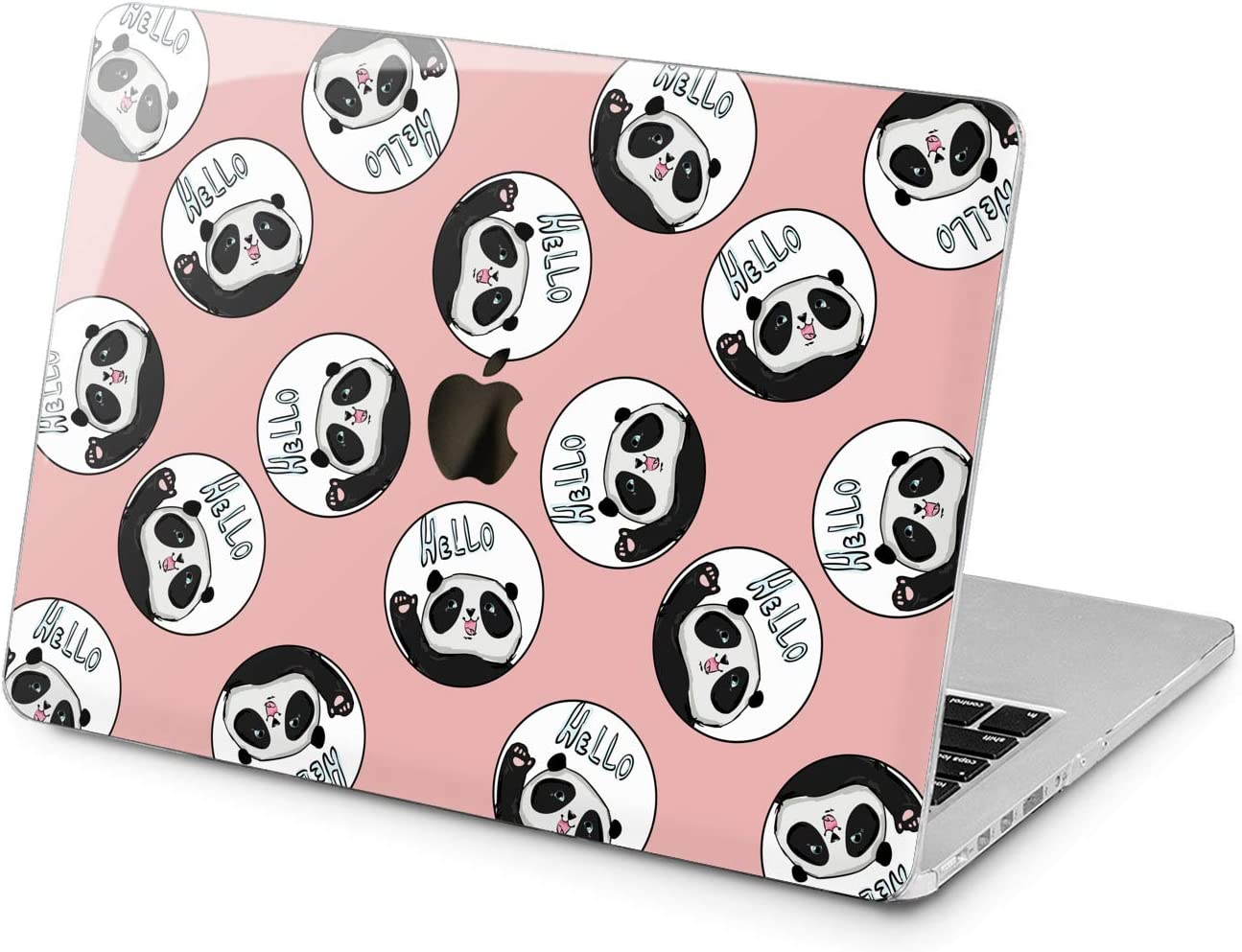 Lex Altern Hard Case for Apple MacBook Pro 15 Air 13 inch Mac Retina 12 11 2020 2019 2018 2017 2016 Women Kawaii Hello Shell Cute Protective Panda Animal Pattern Laptop Bear Design Pink Plastic