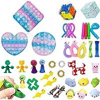 40 Pcs Fidget Toys Pack Contain Pop Fidget Toy to Stress Relief, Fidget Pack Cheap for Kids Adults,Special Fidjetoy Toy…