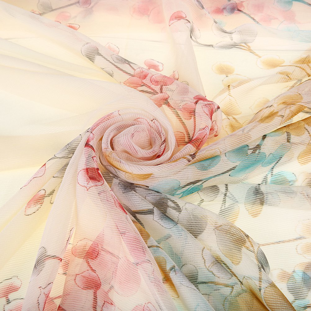 Floral Scarves lightweight Women Scarf Hair Evening Dresses Party Shawl Wrap by XiuyingFeng (Image #7)