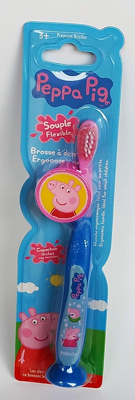 brosse ergonomique pour enfant lumi/ère et capuchon protecteur Brosse /à dents lumineuse Amusant TINOKOU PEPPA PIG 2 unit/és Avec minuterie de 60 secondes