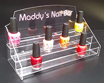 Personalised Nail Polish Display Stand Holds approx 30 bottles ...