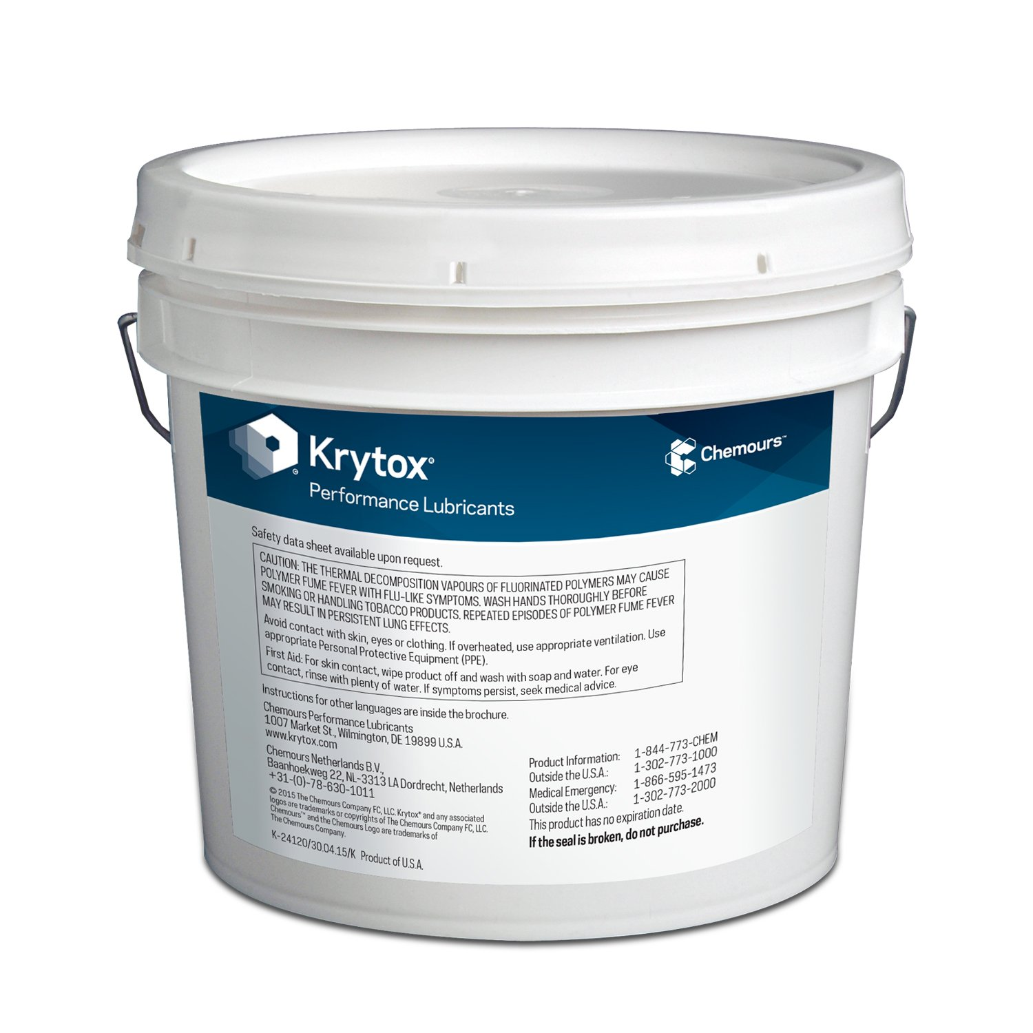 Krytox GPL 205 Grease, Pure PFPE/PTFE, 0 5 oz Tube