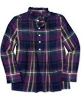 Ralph Lauren Little Girls' Plaid Long Sleeve Shirt Color Fall Purple