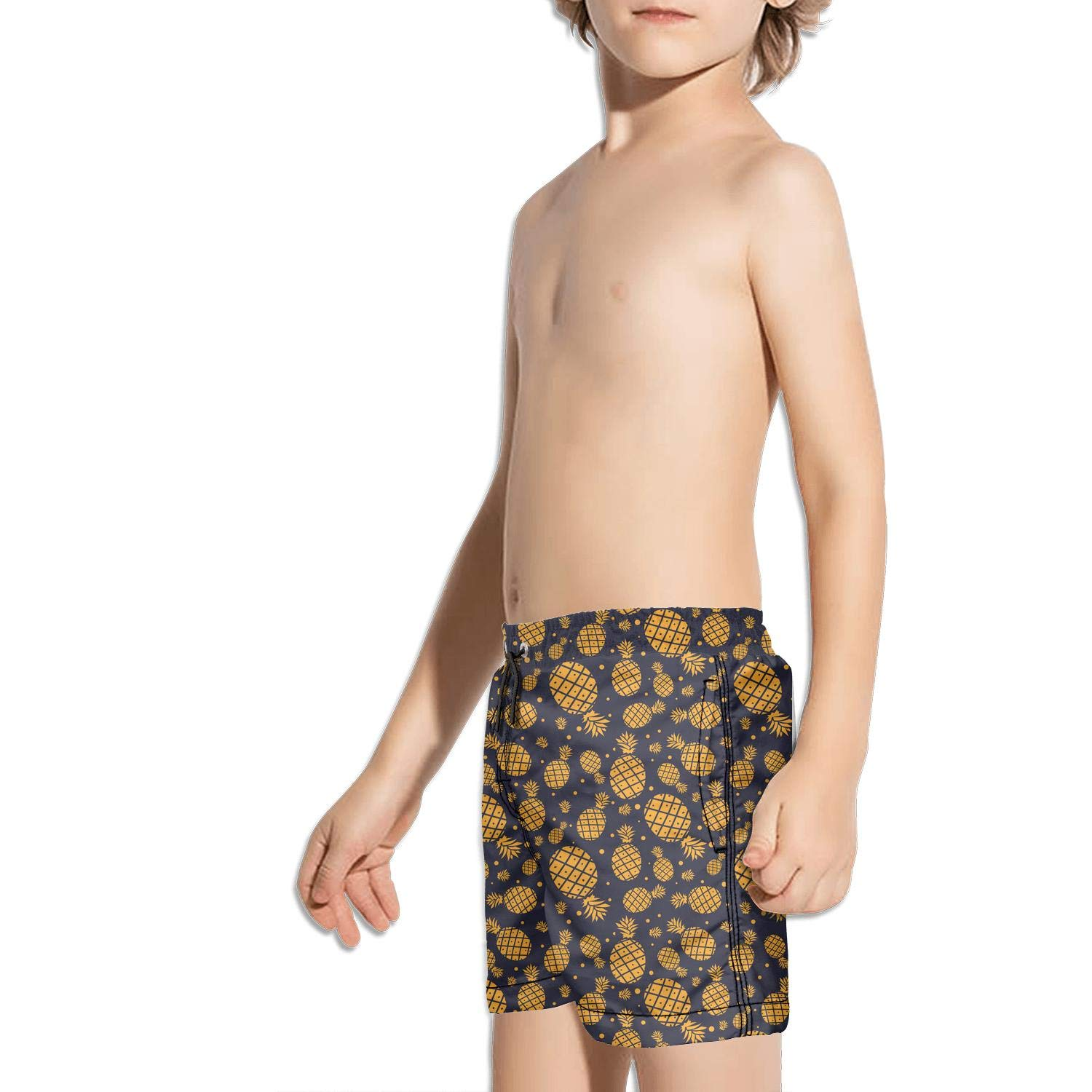 Large and Small Pineapple NAIT.2 Shorts Swim for Kid Quick Dry Beach Adjustable Swimming Tucks Reflex Printed