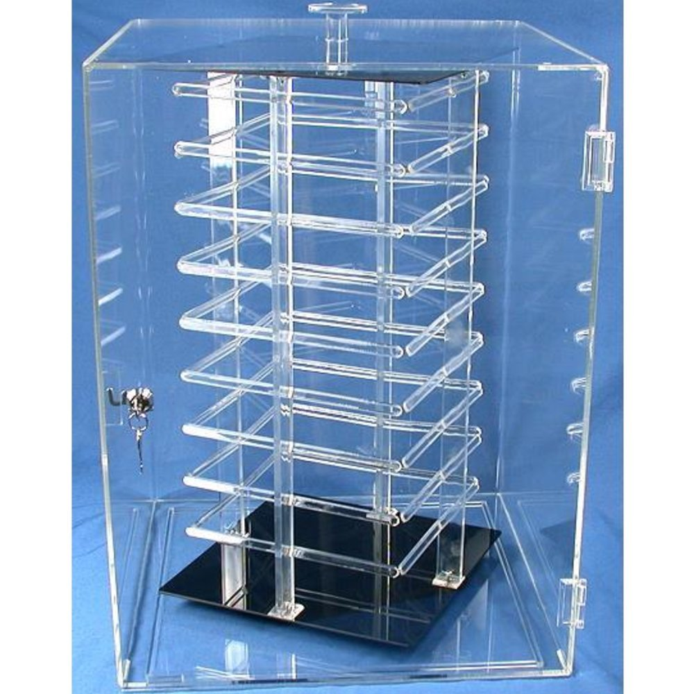 FindingKing Earring Display Case Rotating Revolving 144 Card Stand