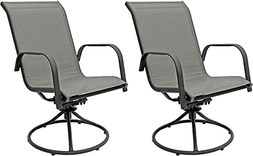 Patio Master Corporation Sienna Swivel Rocker Set of 2 Gray