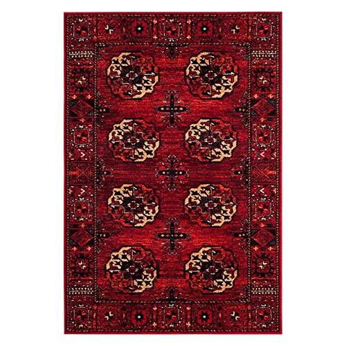 Safavieh Vintage Hamadan Collection VTH212A Antiqued Oriental Red and Multi Area Rug 4 x 6