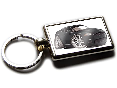 Jaguar XKR - Llavero de coche deportivo cromado con imagen ...