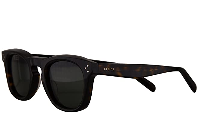 709bc9a4365 Image Unavailable. Image not available for. Colour  Celine CL41371 S Sunglasses  Dark Havana w Grey Green Lens 08685 CL ...