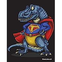 "Sketchbook: Dinosaur Trex Sketchbook For Kids Boys Teenagers, Tweens, Older & Girls, Zendoodle 8.5"" x 11"" Ages 2-4, 4-8…"