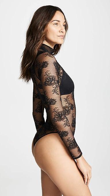 1172739a3d Fleur du Mal Women s Bouquet Lace Turtleneck Bodysuit