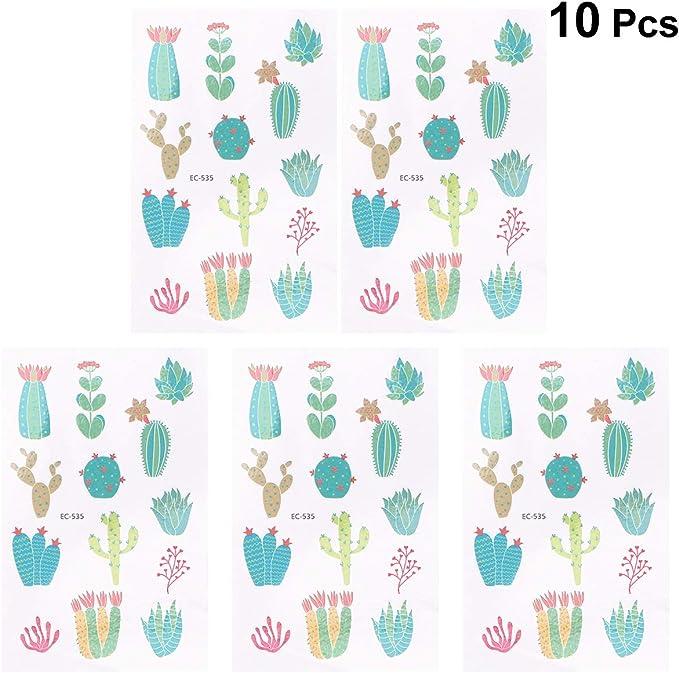 TOYANDONA Tatuajes Temporales de Dibujo Tatuaje Cactus Planta ...