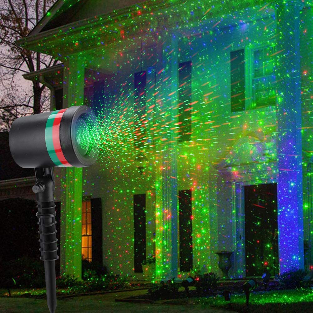 Laser Light Projector, Christmas Outdoor Laser Light Projector LED Landscape Spotlight Projectors Light Outdoor Waterproof Laser Lamp for Outdoor Garden/Yard(100-240V(US Plug))