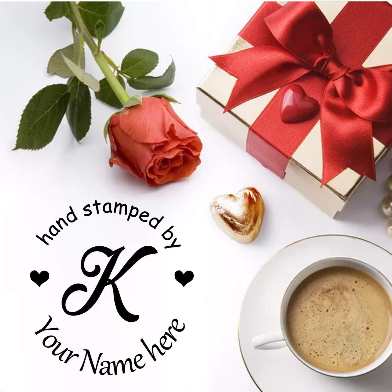 pré encrée timbres personnalisés adresse de retour Tampon Stamp-personalized faite main à la main faite cœur 7a1718