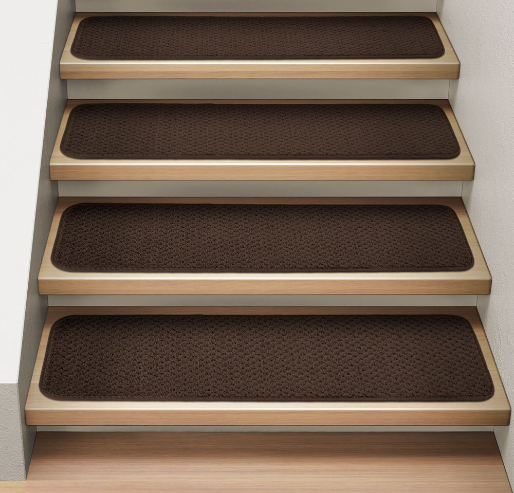 Amazon.com : Set Of 12 Attachable Indoor Carpet Stair Treads   Chocolate  Brown   8 In. X 30 In.   Several Other Sizes To Choose From : Carpet Stair  Treads ...