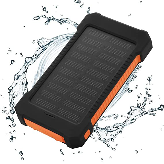 wholesale dealer 4ea0e 8fca6 FLOUREON 10,000mAh Solar Power Bank Portable Solar Phone Charger with LED  Flashlight Dual 2.1A USB Max Waterproof Portable Cell Phone Power Bank ...