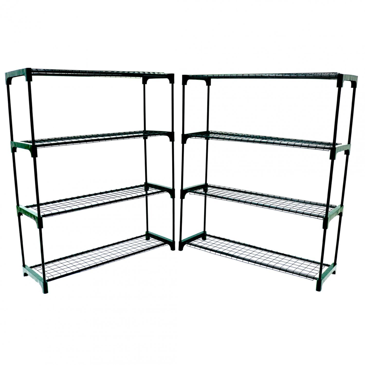Oypla Flower Staging Display Greenhouse Racking Shelving Double Pack 3476A2P