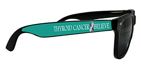 Amazon.com: Thyroid Cáncer Creencia Cinta Negro Retro Gafas ...