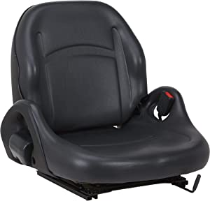 K & M Universal Bucket Seat - Black, Model Number 8001