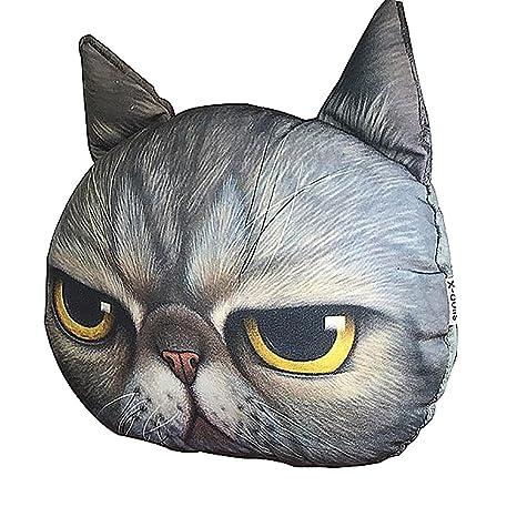 JXHD - Almohada para Cabeza de Coche, Diseño de Gato con Dibujos Animados en 3D