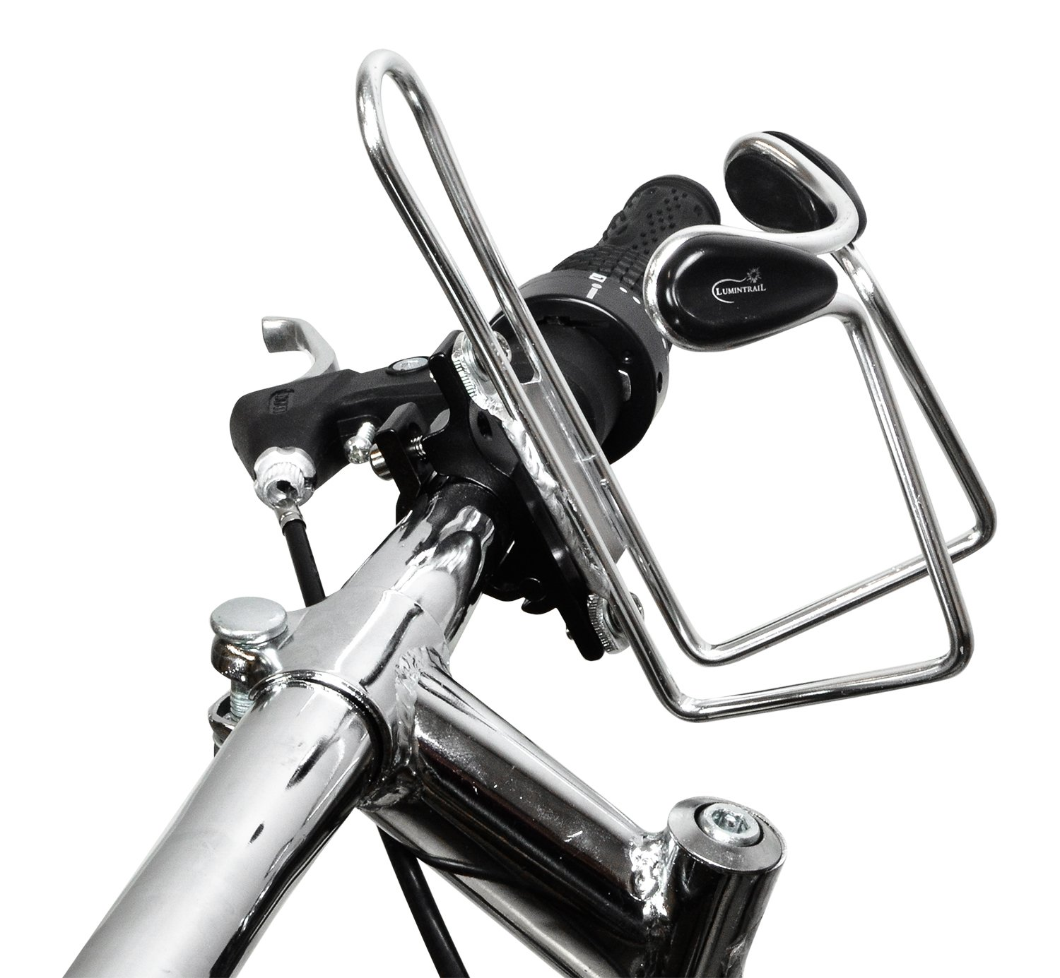 Lumintrail 2 Pack Bike Bottle Holders Cup Cage//Rack w//Handlebar Mount Adapter Lightweight Aluminum Alloy Bicycle Water Cage