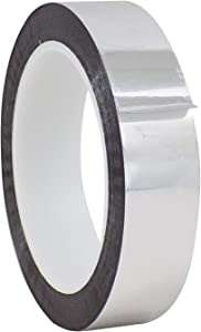 WOD MPFT2 Silver Metalized Polyester Mylar Film Tape with Acrylic Adhesive, 1 inch x 72 yds. Excellent Chemical and Thermal Stability (Available in Multiple Colors & Sizes)