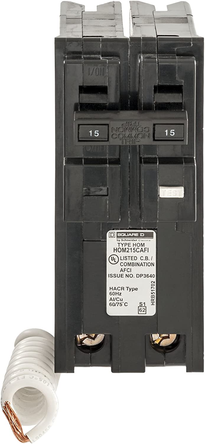 Square D by Schneider Electric HOM215CAFIC Homeline 15 Amp Two-Pole CAFCI Circuit Breaker,