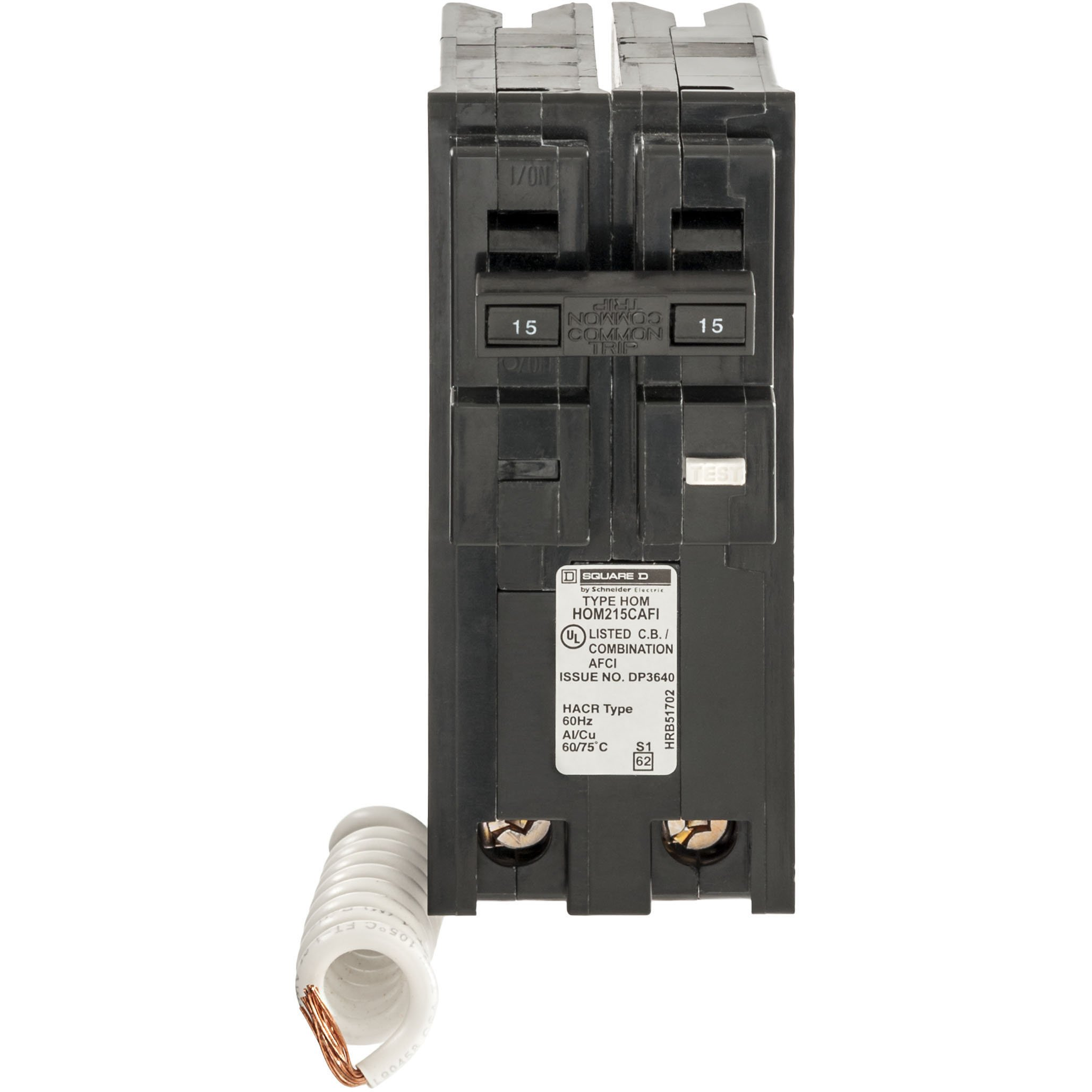 Square D by Schneider Electric HOM215CAFIC Homeline 15 Amp Two-Pole CAFCI Circuit Breaker, by Square D by Schneider Electric