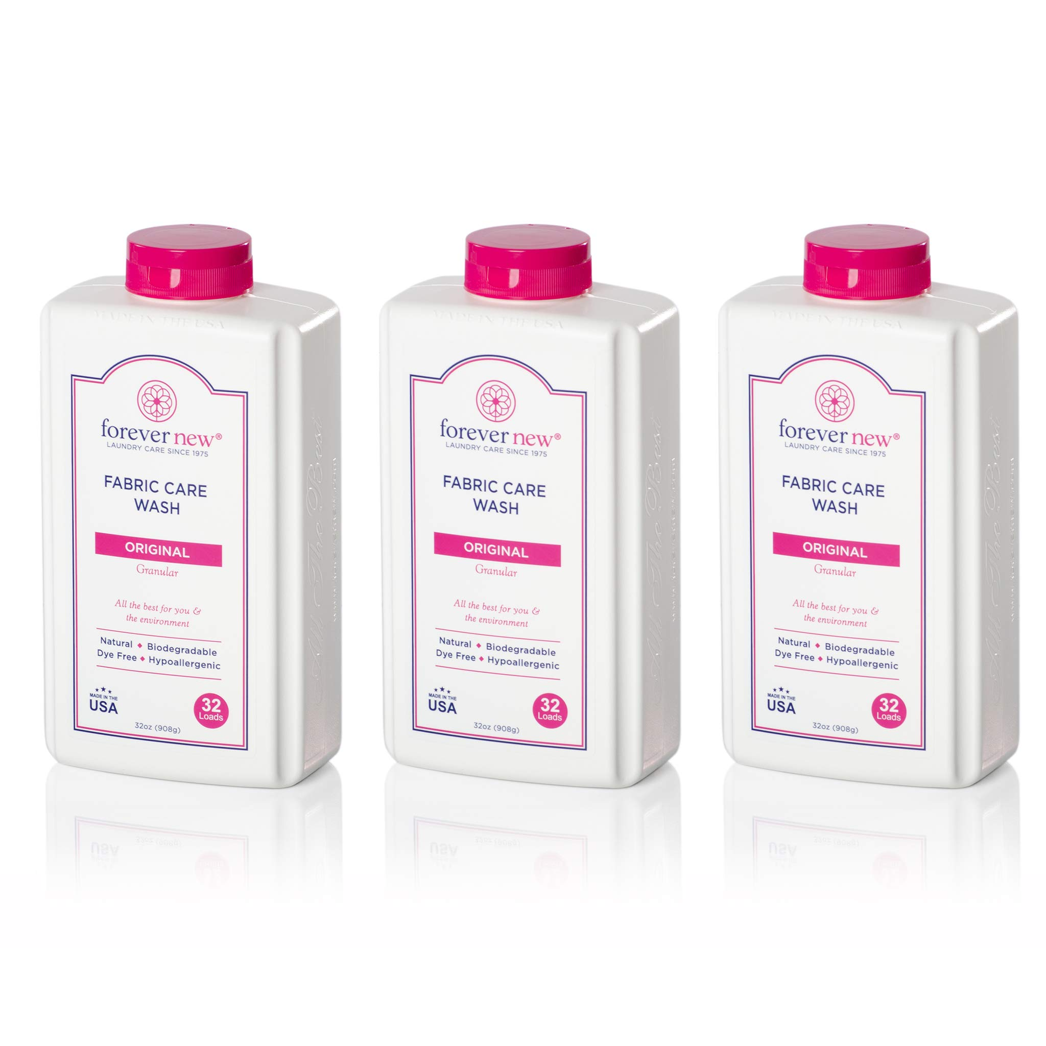 Forever New 32oz Granular Fabric Care Wash 3 Pack (96oz Total) Natural Laundry Detergent by FOREVER NEW