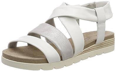 Damen Slingback Sandalen, Weiß (White Multi 103), 38 EU Caprice