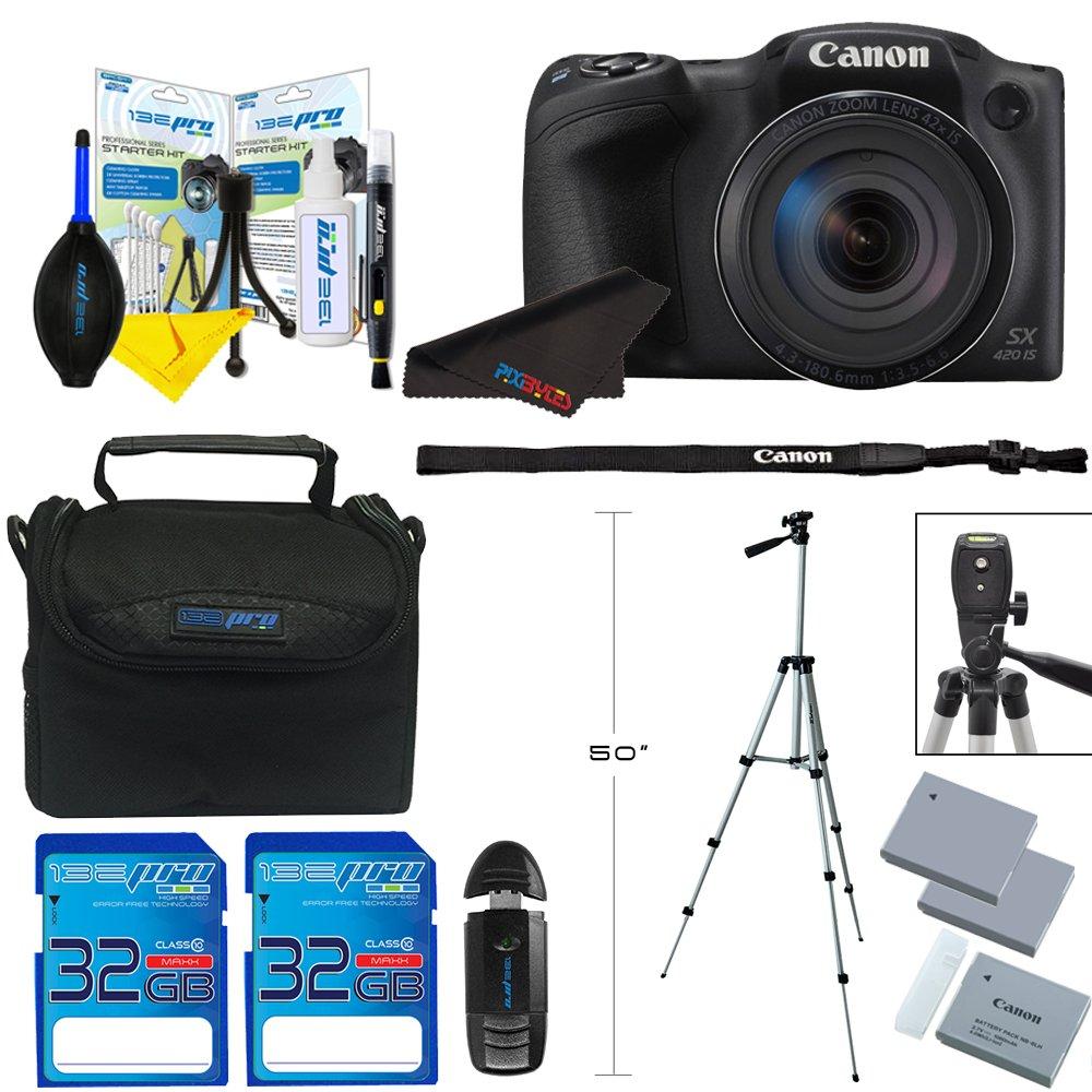 CanonデジタルカメラPowerShot sx420 is W / 42 x光学ズーム+ pixi-advanced Accessoryバンドル – インターナショナルバージョン   B01M07Q5QV