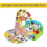 FairytaleMM Alfombra de Juego Multifuncional para bebés Juguete de Gimnasio para niños pequeños Alfombra de rastreo de Suelo con música Pedal de Piano Marco de Ejercicios Juguete para bebés, Verde