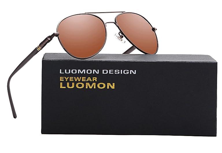 4c076ee2f1 LUOMON MB209 58mm Polarized Aviator Sunglasses