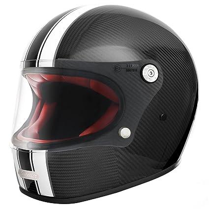 Amazon.es: Premier Trophy Retro - Casco integral para motocicleta ...