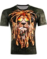 LAEMILIA Damen Herren Shirt Bluse 3D Print Kurzarm Design Tops Hemd T-Shirt