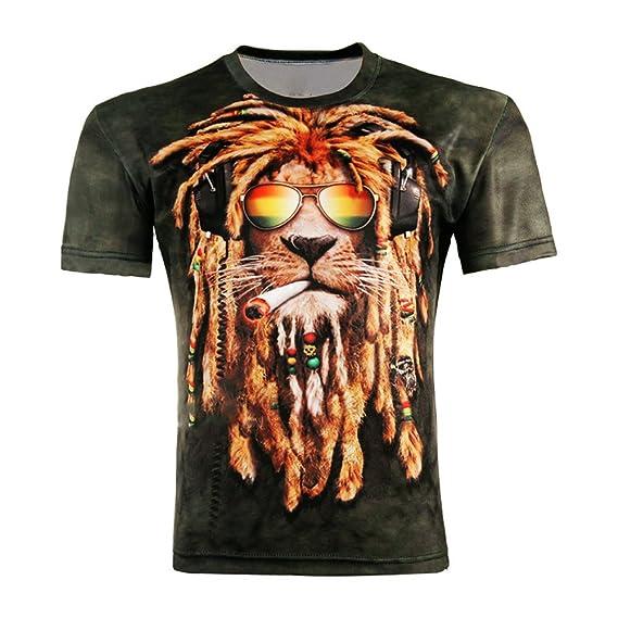 bad185ed56a34c Andy s Share LAEMILIA Damen Herren Shirt Bluse 3D Print Kurzarm Design Tops  Hemd T-Shirt  Amazon.de  Bekleidung