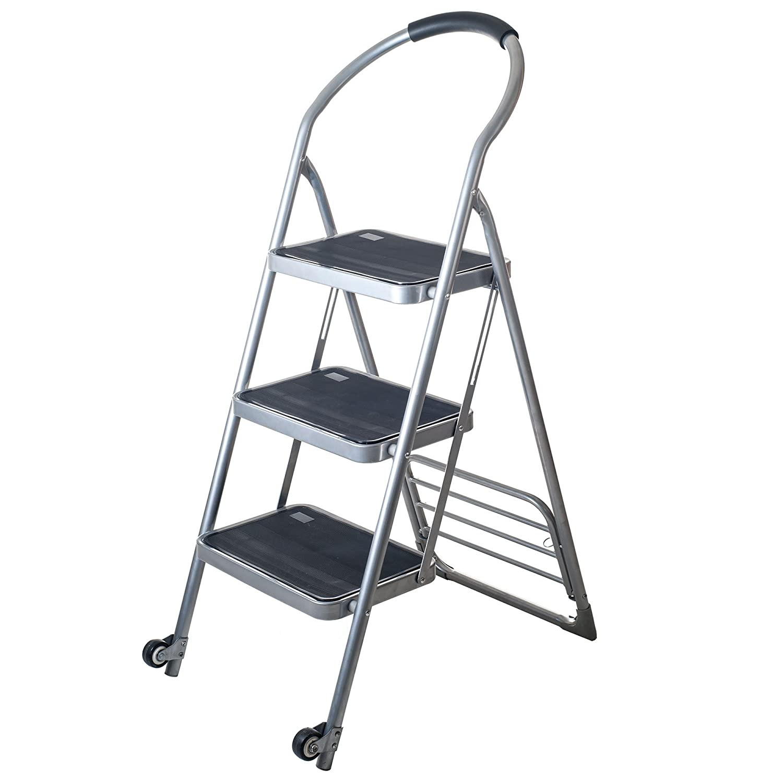 Stalwart Step Ladder Dolly Folding Cart, Silver by Stalwart B00ISUCGZQ