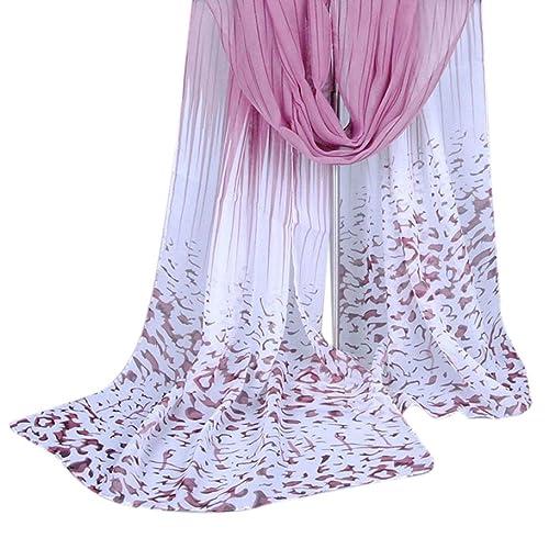 Vovotrade Mujeres largo leopardo Shade mantón abrigo de la bufanda de la gasa de las bufandas,160*50...