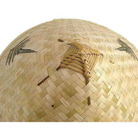 xiangshang shangmao Chino Oriental vietnamita Paja bambú Sombrero Sombrero  de Agricultor Pesca Sombrero  Amazon.es  Hogar 9b0bbf0fab4