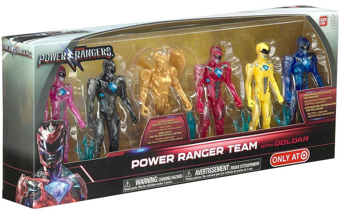Bandai Collectible Power Rangers Team 6-Piece Set With Exclusive Metallic Goldar Bandai America