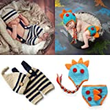 ZOCONE 2 Sets Cotton Knitted Newborn Photography Costume for Girls and Boys (0-3 Months)