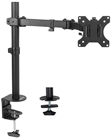 Excellent Vivo Full Motion Single Vesa Computer Monitor Desk Mount Stand With Articulating Double Center Arm Joint For Up To 32 Inch Screens Stand V101 Download Free Architecture Designs Scobabritishbridgeorg