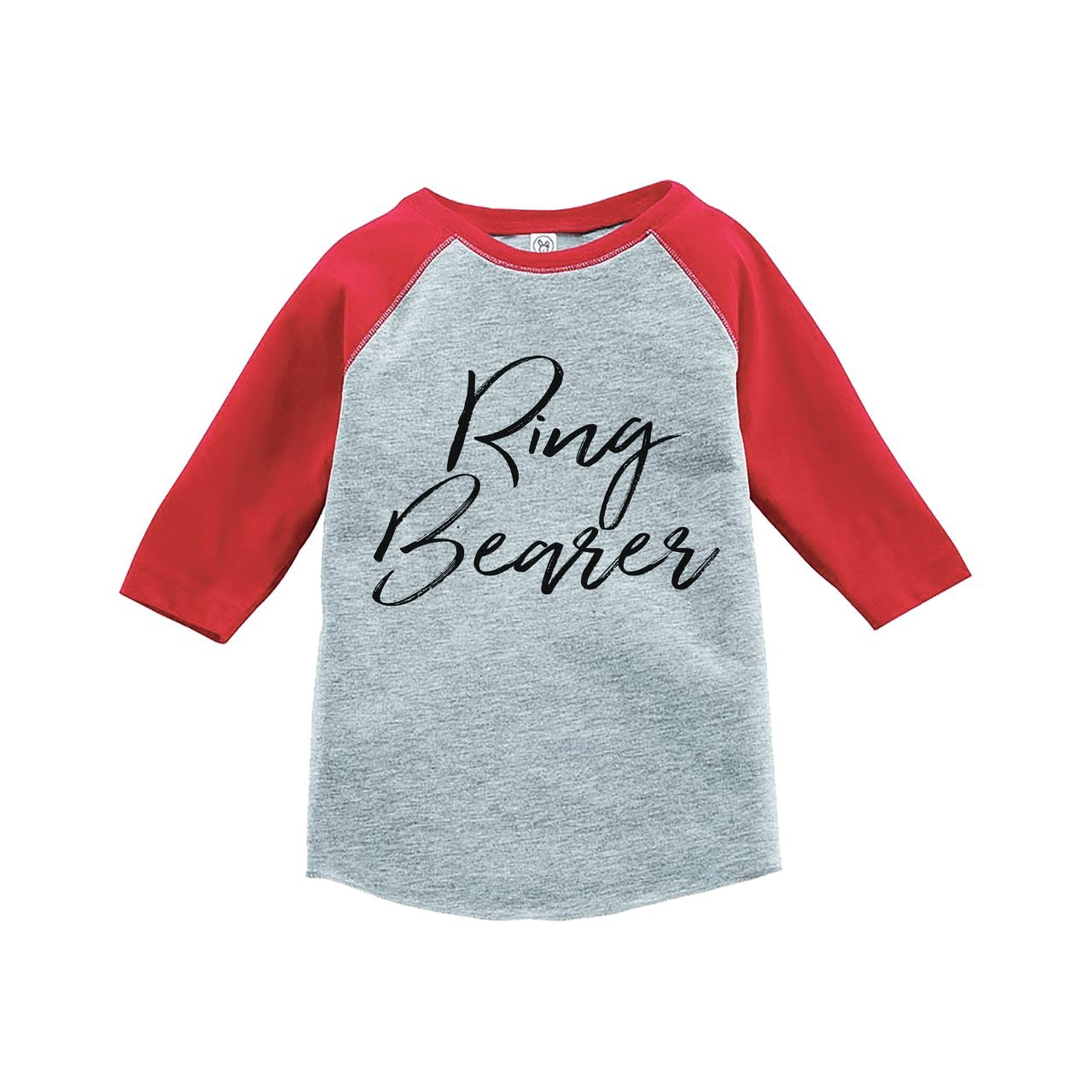 Custom Party Shop Youth Boy's Ring Bearer Wedding Red Raglan Large