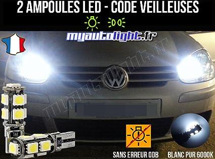 Lote de bombillas LED de color blanco xenón para Volkswagen Golf 5
