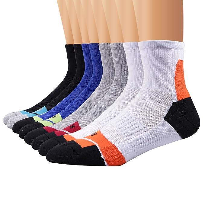 Amazon.com: Ambielly - Calcetines deportivos para hombre, 4 ...