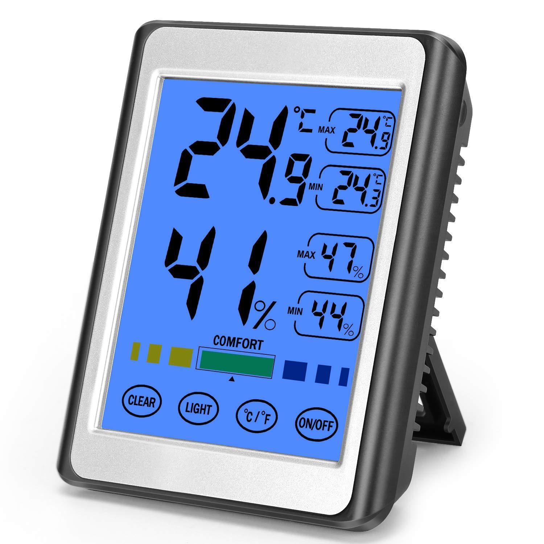 MOSUO Termometro Igrometro Digitale da Interno, Ambiente ...