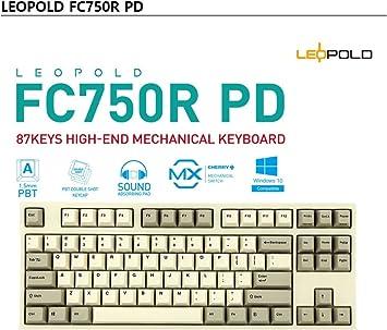 LEOPOLD FC750R PD 87Key Teclado Mecánico Gaming Teclado ...