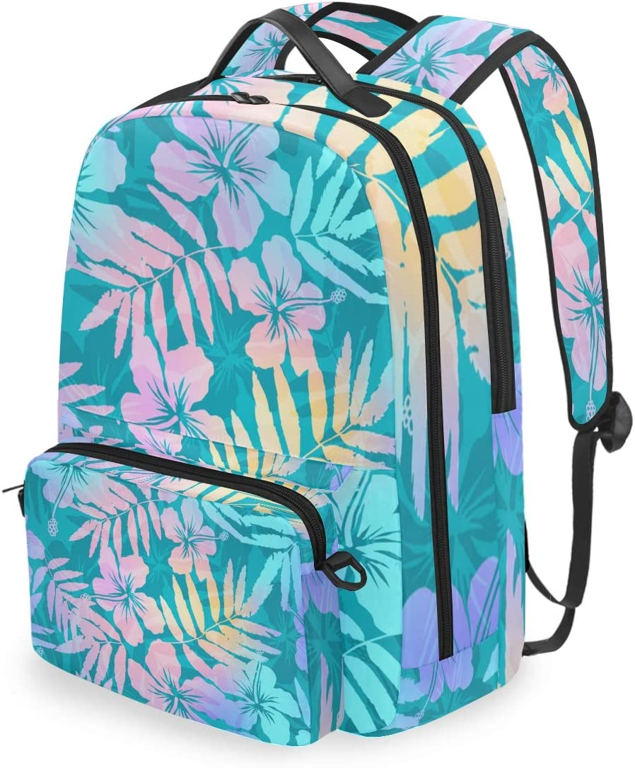 Flowers Flores Tulips Leaves Backpack for School Bookbag College Student Travel Business Hiking
