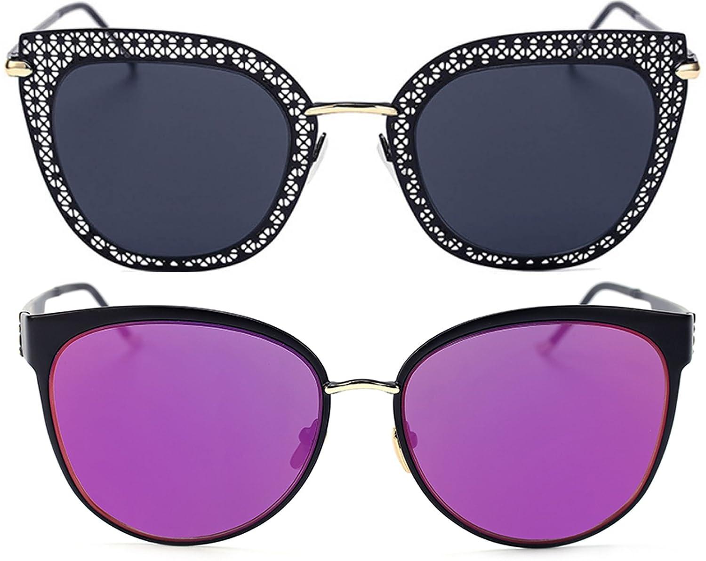 Aviator Cat Eye Heart Round Integral Square Oversized Metal Sunglasses Designer Elegant Beautiful De Luxe Stylish Look Fashion Colored Frame OWL
