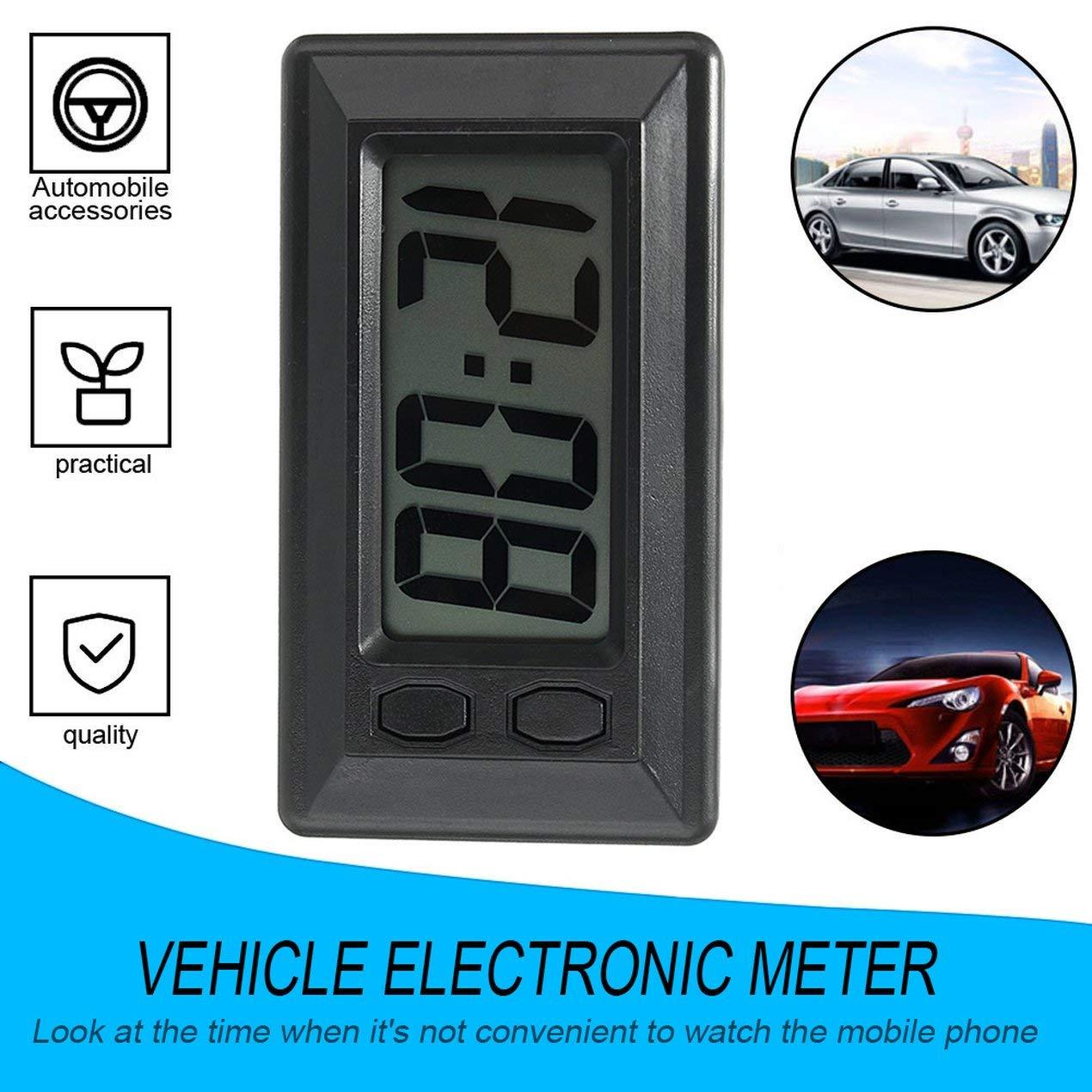 Ultra-Thin LCD Digital Display Car Vehicle Dashboard Clock with Calendar Display Mini Portable Automobile Accessories